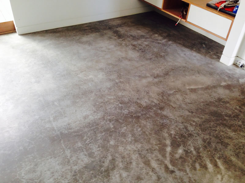 how to clean finished concrete floors