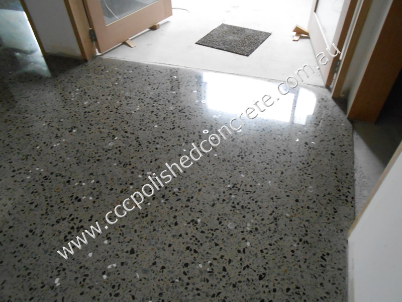 Ccc Polished Concrete Nuts And Bolts Seeded Into Concrete Floor