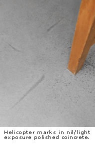 Helicopter and Screed Marks examples
