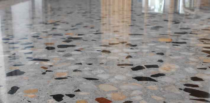 Mechanically Polished Concrete Factory Floor